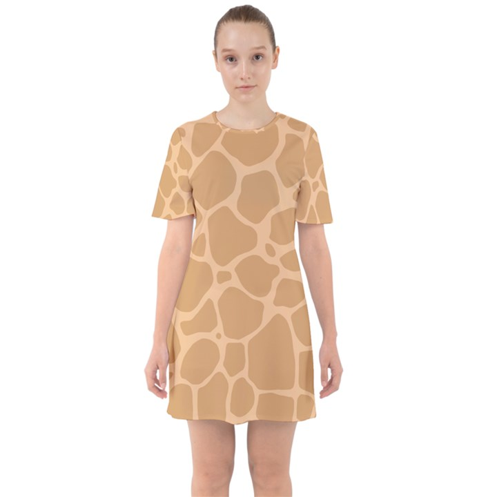 Autumn Animal Print 10 Sixties Short Sleeve Mini Dress