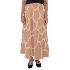 Autumn Animal Print 10 Flared Maxi Skirt