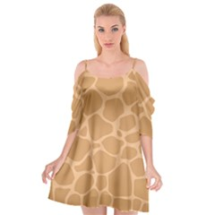 Autumn Animal Print 10 Cutout Spaghetti Strap Chiffon Dress