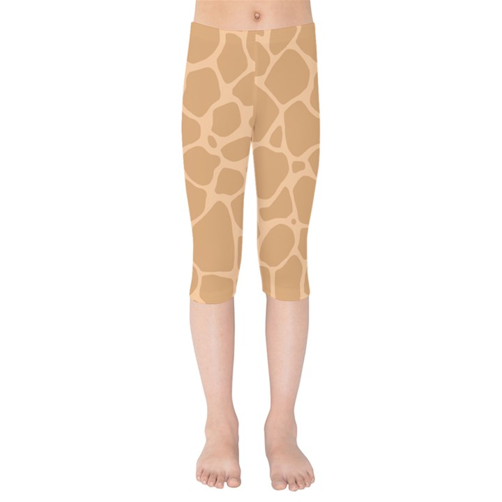 Autumn Animal Print 10 Kids  Capri Leggings