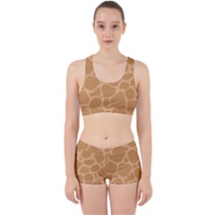 Autumn Animal Print 10 Work It Out Sports Bra Set