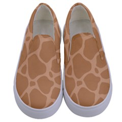 Autumn Animal Print 10 Kids  Canvas Slip Ons