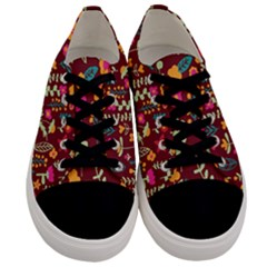 Cute Doodle Flowers 6 Men s Low Top Canvas Sneakers