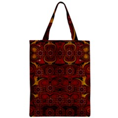 Pumkins  In  Gold And Candles Smiling Zipper Classic Tote Bag