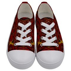 Pumkins  In  Gold And Candles Smiling Kids  Low Top Canvas Sneakers