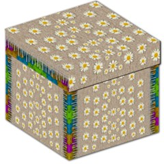 Star Fall Of Fantasy Flowers On Pearl Lace Storage Stool 12