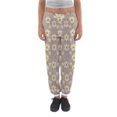 Star Fall Of Fantasy Flowers On Pearl Lace Women s Jogger Sweatpants
