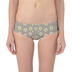 Star Fall Of Fantasy Flowers On Pearl Lace Classic Bikini Bottoms