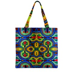 L ooera In Lyrical Abstraction Grocery Tote Bag