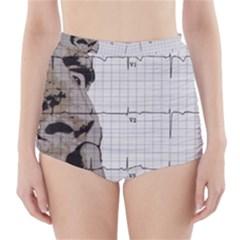 Dali s Heart Beat High Waisted Bikini Bottoms