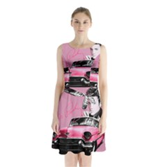 Elvis Presley s Pink Cadillac Sleeveless Waist Tie Chiffon Dress