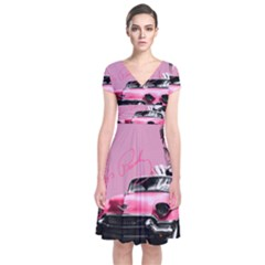 Elvis Presley s Pink Cadillac Short Sleeve Front Wrap Dress