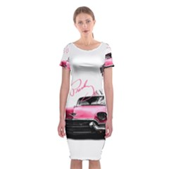 Elvis Presley s Pink Cadillac Classic Short Sleeve Midi Dress