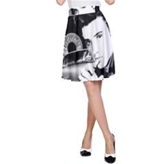 Elvis Presley Collage A Line Skirt