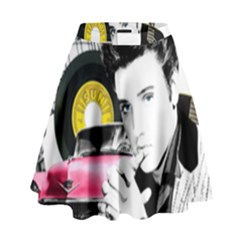 Elvis Presley Collage High Waist Skirt