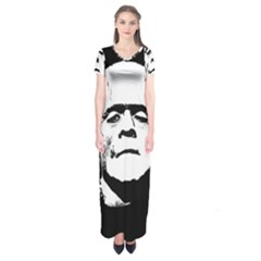 Frankenstein s Monster Halloween Short Sleeve Maxi Dress