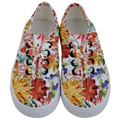 Autumn Flowers Pattern 1 Kids  Classic Low Top Sneakers