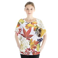 Autumn Flowers Pattern 3 Blouse
