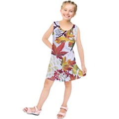 Autumn Flowers Pattern 3 Kids  Tunic Dress