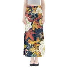 Autumn Flowers Pattern 4 Full Length Maxi Skirt
