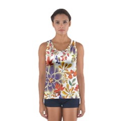 Autumn Flowers Pattern 5 Sport Tank Top