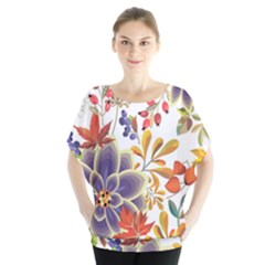 Autumn Flowers Pattern 5 Blouse