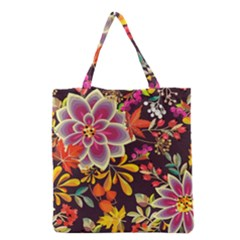 Autumn Flowers Pattern 6 Grocery Tote Bag
