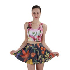 Autumn Flowers Pattern 8 Mini Skirt