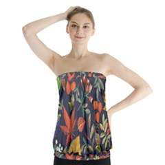 Autumn Flowers Pattern 8 Strapless Top