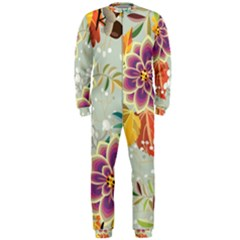 Autumn Flowers Pattern 9 Onepiece Jumpsuit (men)