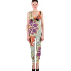 Autumn Flowers Pattern 9 Onepiece Catsuit