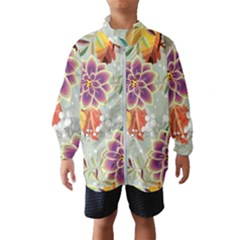 Autumn Flowers Pattern 9 Wind Breaker (kids)