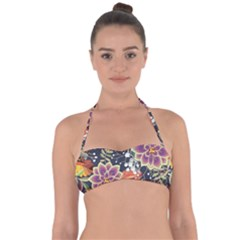 Autumn Flowers Pattern 10 Halter Bandeau Bikini Top