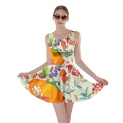 Autumn Flowers Pattern 11 Skater Dress