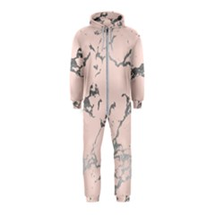 Luxurious Pink Marble 1 Hooded Jumpsuit (kids)