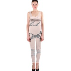 Luxurious Pink Marble 1 Onepiece Catsuit