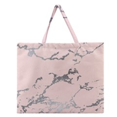Luxurious Pink Marble 1 Zipper Large Tote Bag