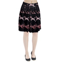 Luxurious Pink Marble 2 Pleated Skirt