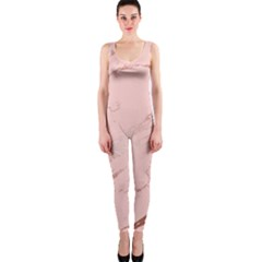 Luxurious Pink Marble 3 Onepiece Catsuit