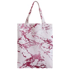 Luxurious Pink Marble 4 Zipper Classic Tote Bag
