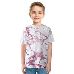 Luxurious Pink Marble 4 Kids  Sport Mesh Tee