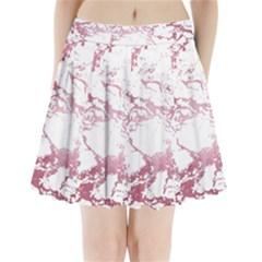 Luxurious Pink Marble 4 Pleated Mini Skirt