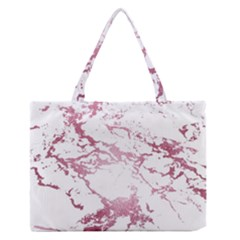 Luxurious Pink Marble 4 Zipper Medium Tote Bag