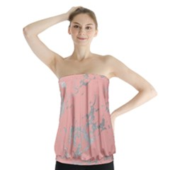 Luxurious Pink Marble 6 Strapless Top
