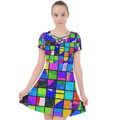 Colorful Squares Pattern                          Caught In A Web Dress