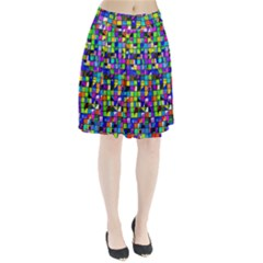 Colorful Squares Pattern                         Pleated Skirt