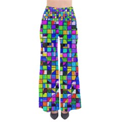 Colorful Squares Pattern                       Women s Chic Palazzo Pants