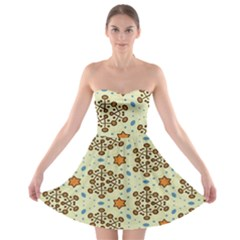 Stars And Other Shapes Pattern                               Strapless Bra Top Dress