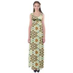 Stars And Other Shapes Pattern                          Empire Waist Maxi Dress