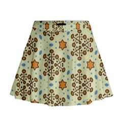 Stars And Other Shapes Pattern                                 Mini Flare Skirt